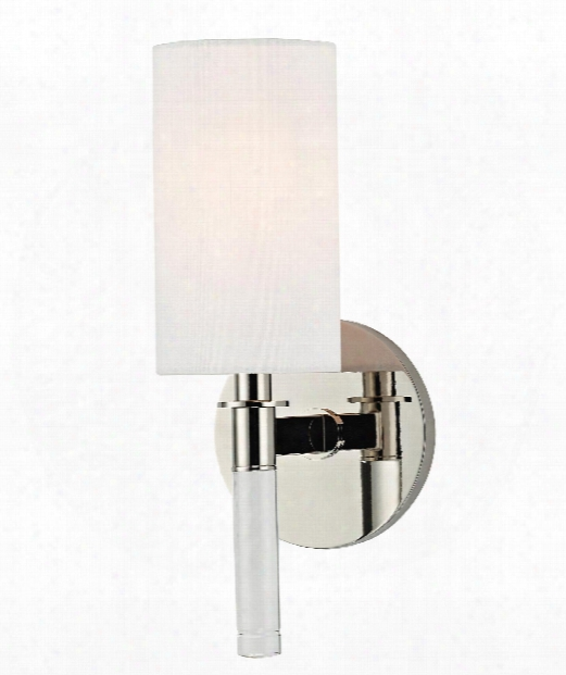 """Wylie 5"""" 1 Light Wall Sconce In Ploished Nickel"""