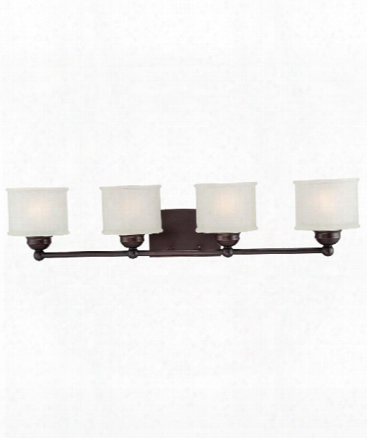 "1730 Series 33"" 4 Light Bath Vanity Light In Lathan Bronze"