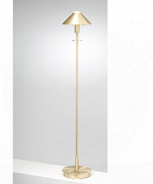 """8"""" 1 Light Floor Lamp In Brushed Brass"""