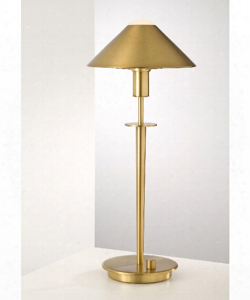 """8"""" 1 Light Table Lamp In Antique Brass"""