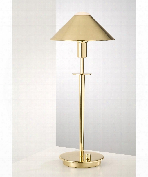 """8"""" 1 Light Table Lamp In Polished Brass"""