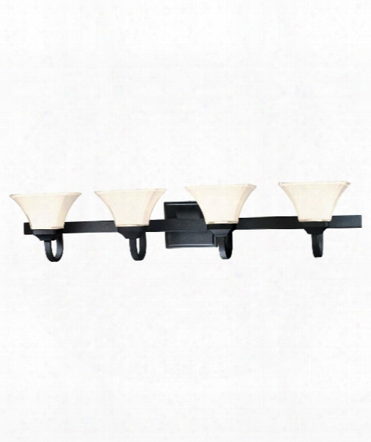 "Agilis 43"" 4 Light Bath Vanity Light In Black"