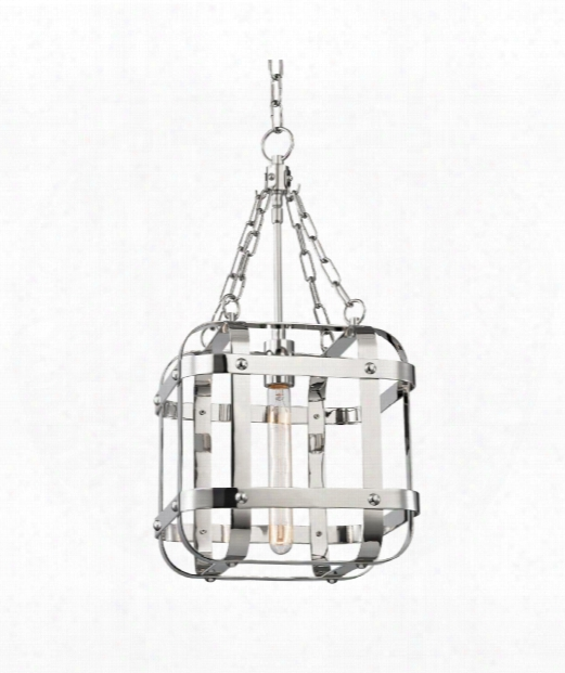 "Colchester 12"" 1 Light Mini Pendant In Polished Nickel"