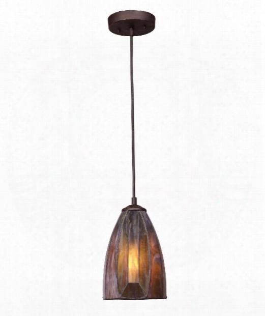 """Dimensions 6"""" 1 Light Mini Pendant In Burnished Copper"""