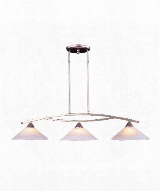 """Elysburg 43"""" 3 Light Island Light In Satin Nickel"""