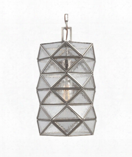 "Harambee 8"" 1 Light Mini Pendant In Antique Brushed Nickel"