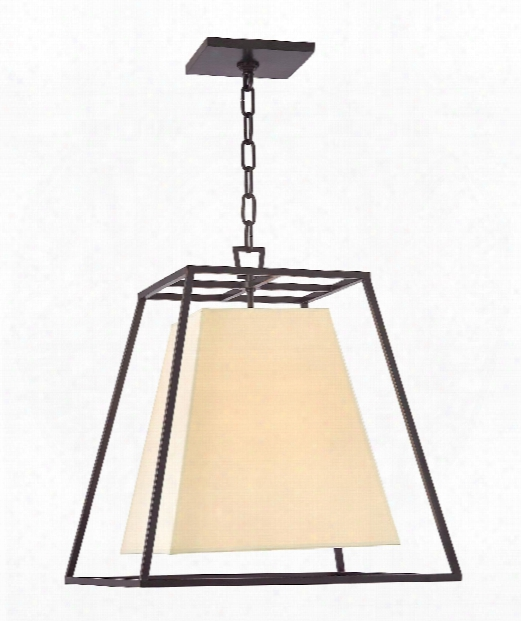 "Kyle 17"" 4 Light Foyer Pendant In Old Bronze"