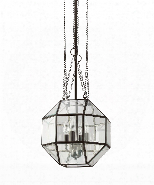 "Lazlo 12"" 4 Light Mini Pendant In Heirloom Bronze"