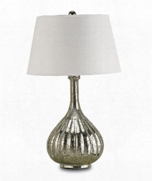 "Libertine 17"" 1 Light Table Lamp In Antique Mercury"