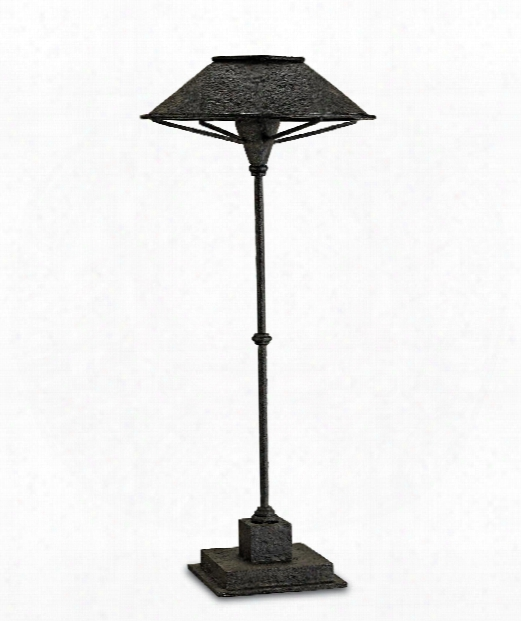 "Manuscript 15"" 1 Light Table Lamp In Smoke Black-antique Mirror"