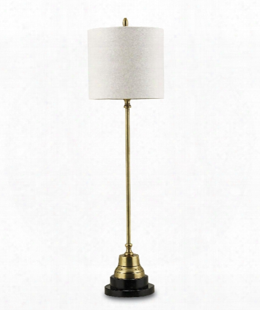 "Messenger 7"" 1 Light Table Lamp In Vintage Brass-black"
