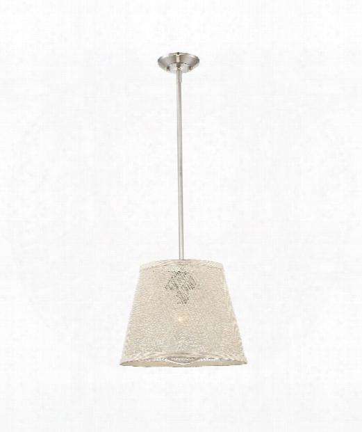 """Messina 16"""" 1 Light Outdoor Hanging Lantern In Satin Nickel"""
