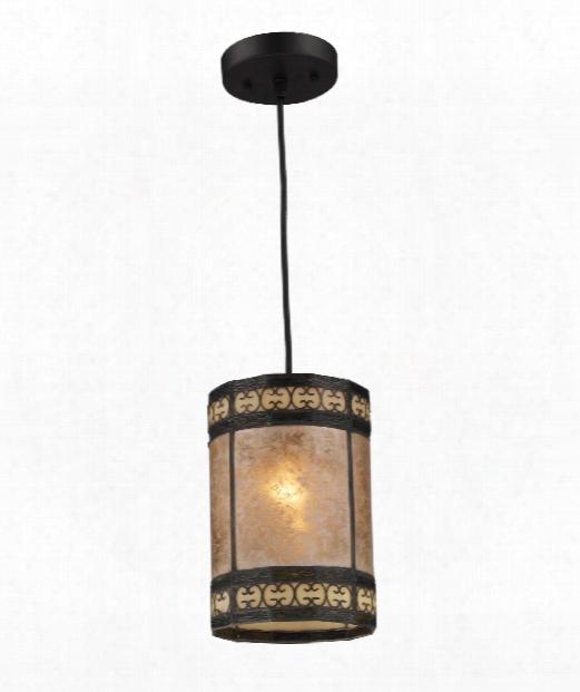 """Mica Filigree 6"""" 1 Light Mini Pendant In Tiffany Bronze"""