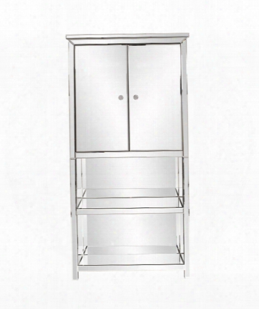 """Mirrored 32"""" Drawer Chest In Mirrored"""