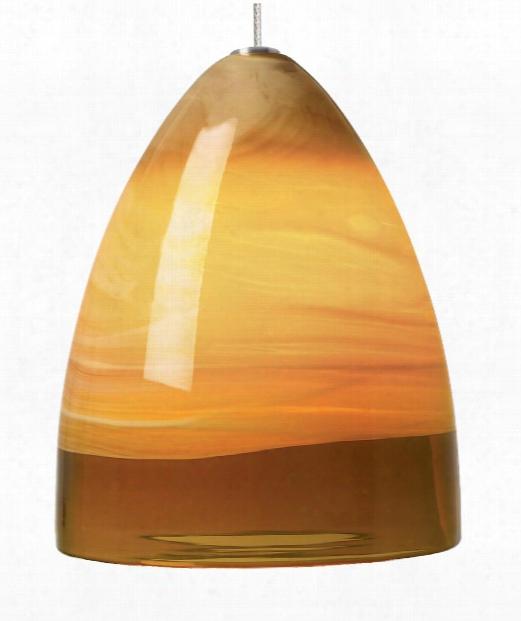 """Nebbia 6"""" 1 Light Mini Pendat In Satin Nickel"""
