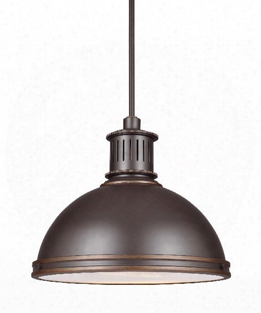 "Pratt Street Metal 16"" Led Large Pendant In Autumn Bronze"