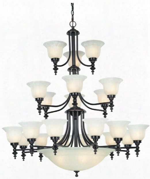 "Richland 44"" 24 Light Chandelier In Royal Bronz E"