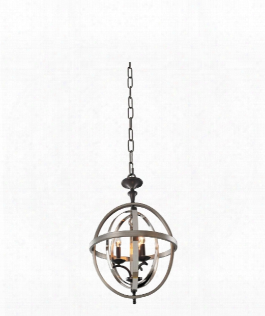Rothwell 3 Light Large Pendant In Polished Satin Nickel