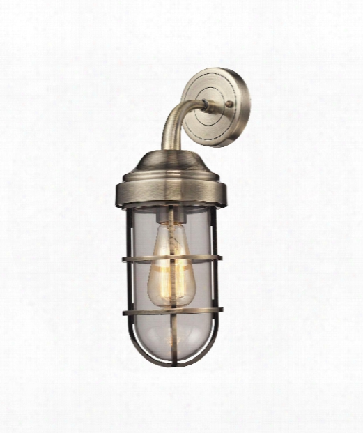 "Seaport 6"" 1 Light Wall Sconce In Antique Brass"