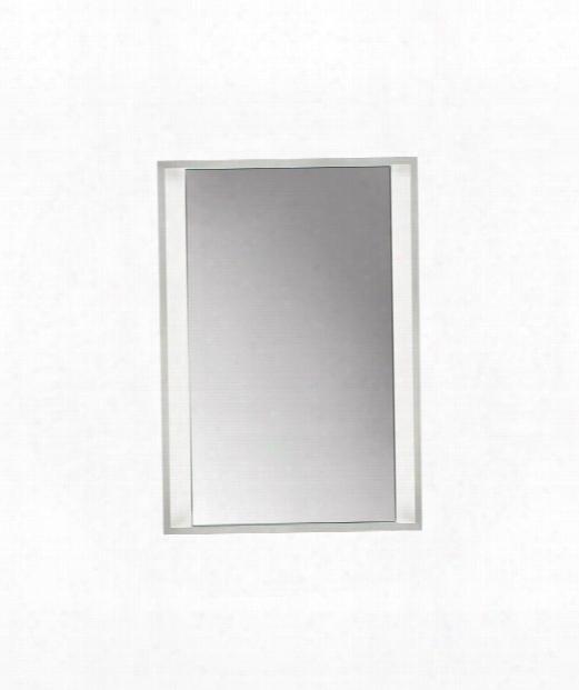 "Siber 25"" 8 Light Wall Mirror In Chrome"