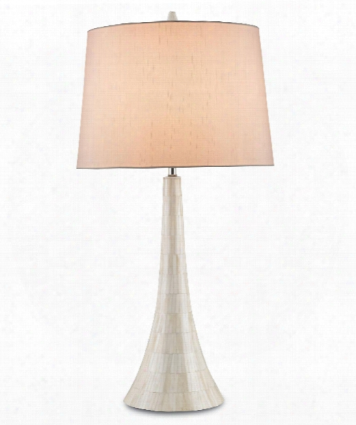 Snowdrift 1 Light Tablee Lamp In Cream