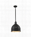"Carolton 13"" 1 Light Large Pendant in Oil Rubbed Bronze"