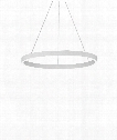 "Fiama 24"" LED 1 Light Chandelier in White"