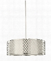 "Jourdanton 24"" 4 Light Large Pendant in Brushed Nickel"