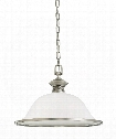 "Laurel Leaf 17"" 1 Light Large Pendant in Antique Brushed Nickel"