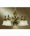 "Richland 26"" 6 Light Chandelier in Old Brass"