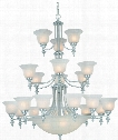 "Richland 44"" 24 Light Chandelier in Satin Nickel"