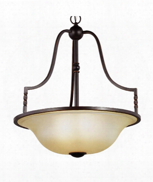 "Trempealeau 25"" 4 Light Large Pendant In Roman Bronze"