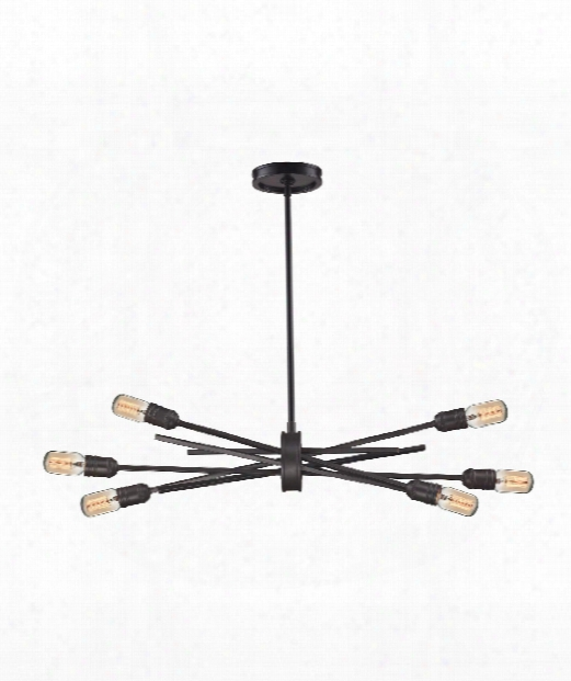 "Xenia 31"" 6 Light Large Pendant In Oil Rubbed Bronze"