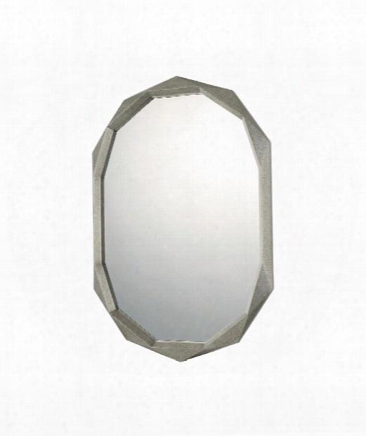 "28"" Wall Mirror In Antique Silver"
