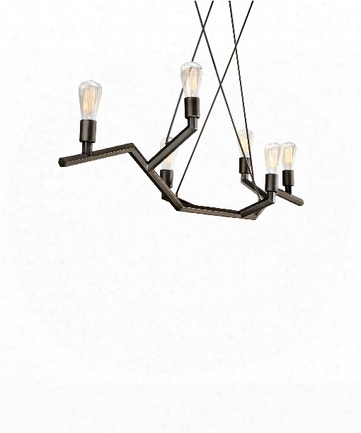 Akimbo 48&uot; 6 Light Chandelier In Antique Bron Ze