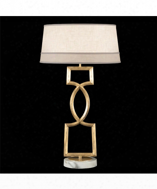 Allegretto 1 Light Table Lamp In Burnished Gold Leaf