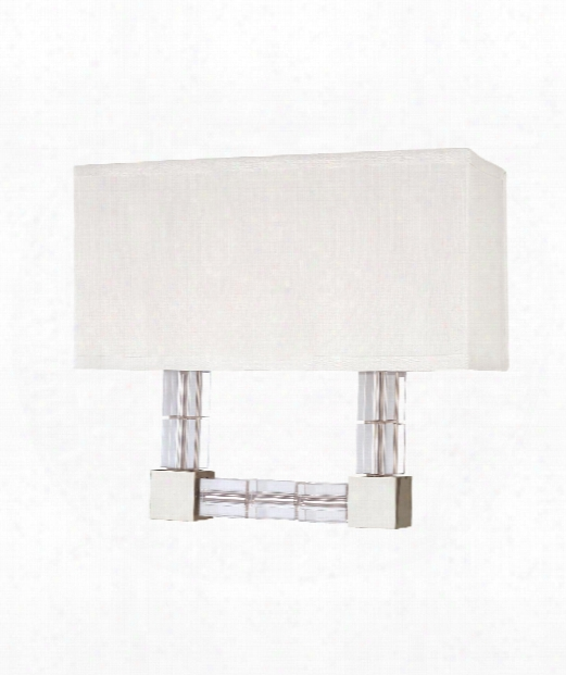 """Alpine 13"""" 2 Light Wall Sconce In Polished Nickel"""