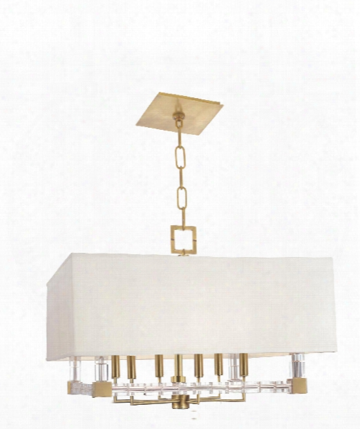 "Alpine 26"" 6 Light Chandelier In Aged Brass"