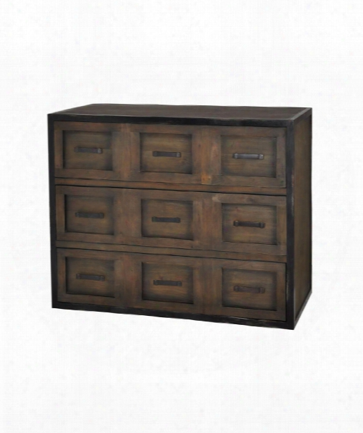 "Astoria 42"" Drawer Chest In Waterfront Grey Stain"