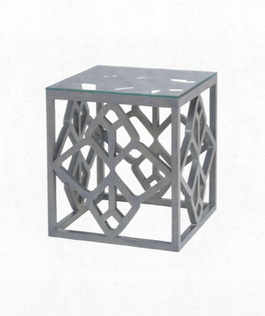 """Bain 20"""" Accent Table In Antique Smoke"""