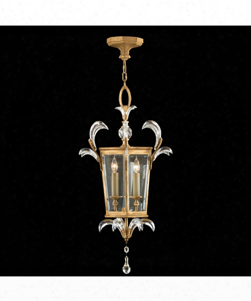 "Beveled Arcs 22"" 3 Light Foyer Pendant In Warm Muted Gold Leaf"