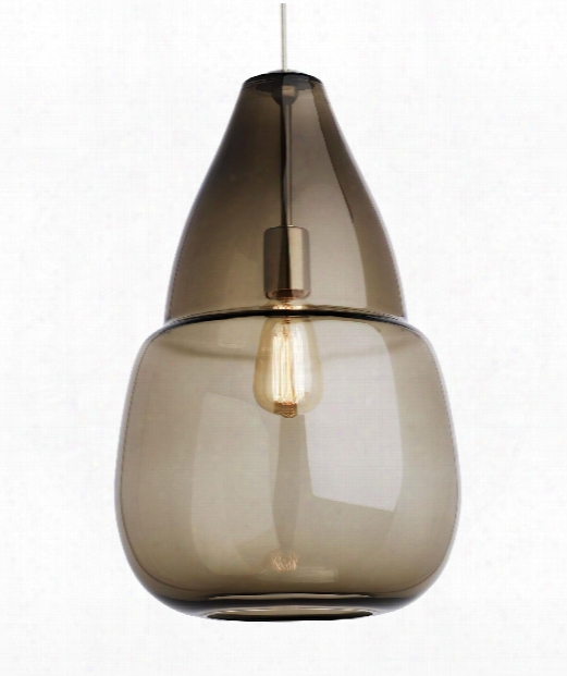 "Capsian Grande 5"" Led 1 Light Mini Pendant In Satin Nickel"