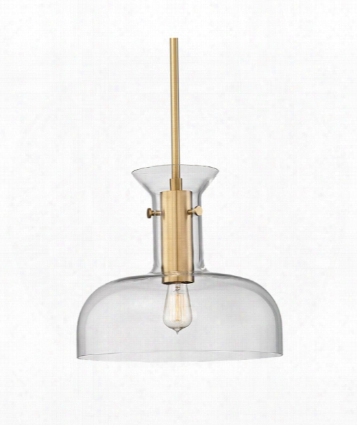 "Coffey 16"" 1 Light Large Pendant In Aged Brass"