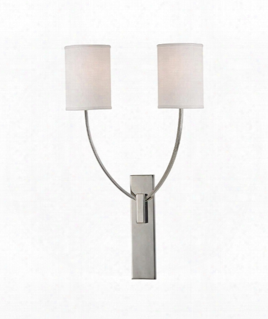 "Colton 15"" 2 Light Bath Emptiness Light In Polished Nickel"