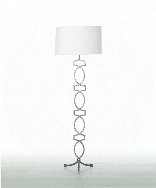"""Cooper 21"""" Floor Lamp In Silver Leaf"""
