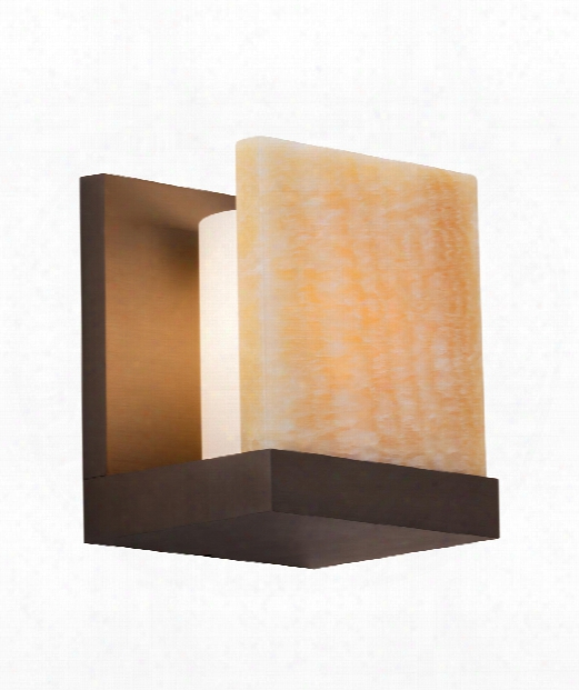 "Corbel Onyx 6"" 1 Light Wall Sconce In Antique Bronze"