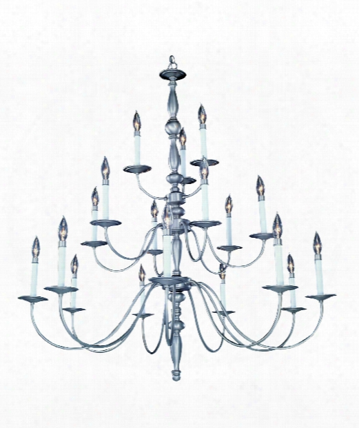 "Early American 42"" 18 Light Chandelier In Mahogany Bronze"