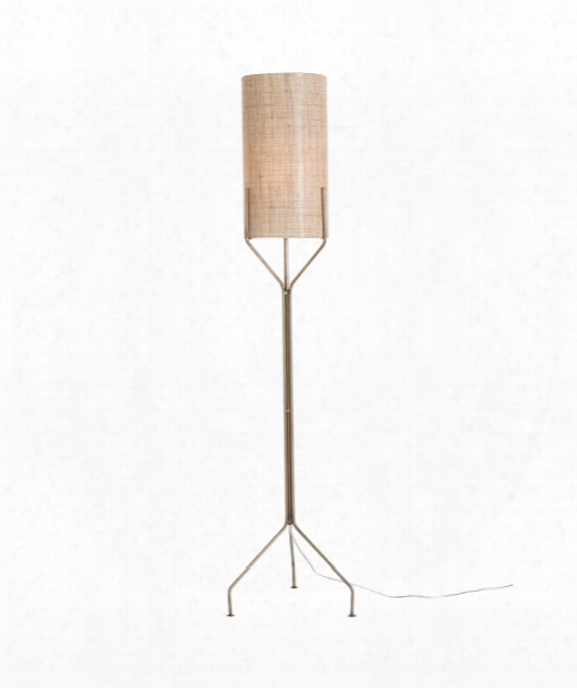 "Ellis 16"" 1 Light Floor Lamp In Antique Brass"