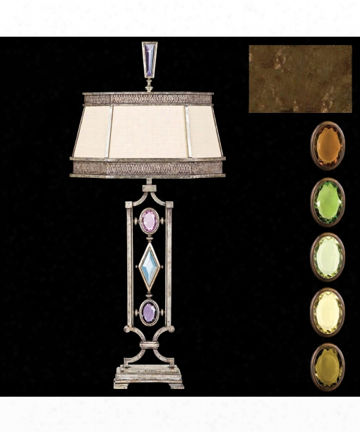 Encased Gems 1 Light Table Lamp In Bronze