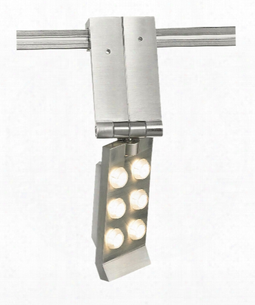 "Flip 1"" Led 1 Light Track Head In Satin Nickel"